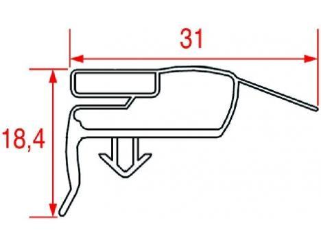 SNAP-IN GASKET 668x385 mm