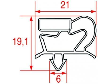 SNAP-IN GASKET 385x170 mm