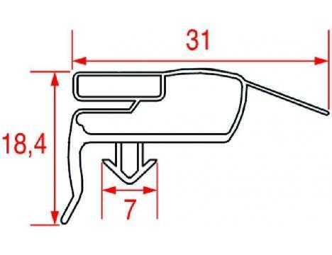 SNAP-IN GASKET 1695x600 mm