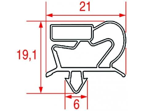 SNAP-IN DOOR GASKET 630x445 mm