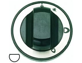 BLACK KNOB o 70 mm SILK-SCREEN PRINTED