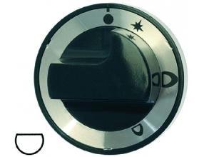 BLACK KNOB o 65 mm SILK-SCREEN PRINTED
