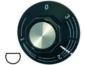 BLACK KNOB o 50 mm 0-1-2-3