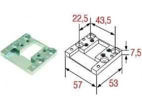 PLATE FOR DOOR STRIKE PIN 30-43 mm