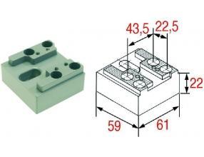 PLATE FOR DOOR STRIKE PIN 51-65 mm