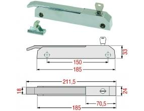 RH/LH LOCKING HANDLE WITH KEY LOCK