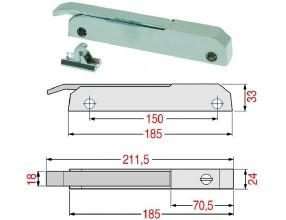 RH/LH LOCKING HANDLE WITHOUT KEY LOCK