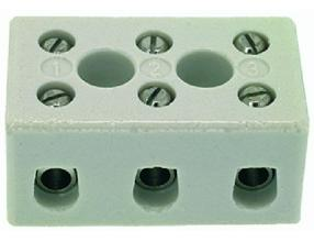 3-POLE CERAMIC TERMINAL BLOCK