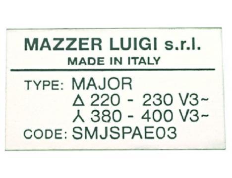 MOTOR LABEL SJ 220/380V 50Hz