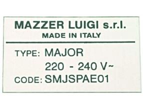 MOTOR LABEL SJ 220/240V 50Hz