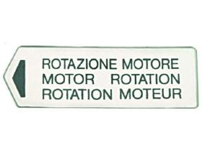 MOTOR ROTATION LABEL
