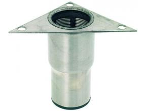 "STAINLESS STEEL FOOT o 2"" x h 125 mm"