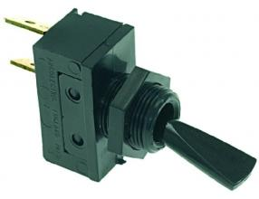 BLACK SINGLE-POLE SWITCH 16A 250V