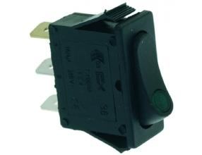 BLACK SINGLE POLE SWITCH 16A 250V