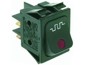 BLACK TWO-POLE SWITCH 16A 250V