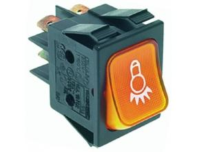 ORANGE TWO-POLE SWITCH 16A 250V