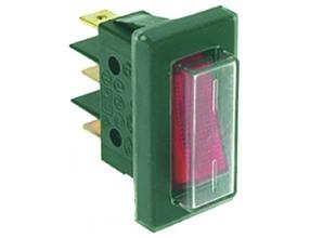 RED THREE-POLE SWITCH 16A 250V