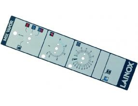 GREY MECHANICAL PLATE WITH BLUE POINTER
