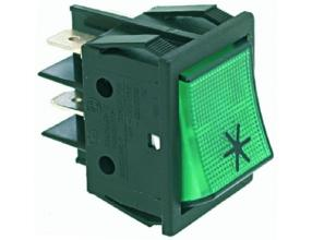 GREEN BIPOLAR SWITCH 250V 16A