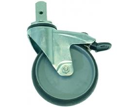 AXLE SWIVELLING WHEEL WITH BRAKE
