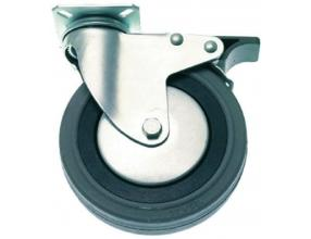 PLATE SWIVELLING WHEEL WITH BRAKE