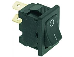 BLACK SINGLE-POLE SWITCH 6A 250V