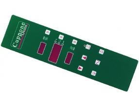 GREEN ELECTRONIC PLATE 423x105 mm