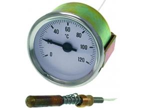 TERMOMETR BIAŁA TARCZA o 52 mm 0-120 C