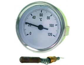 TERMOMETR BIAŁA TARCZA o 60 mm 0-120 C