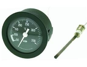 BLACK TELETHERMOMETER o 52 mm 50-350 C