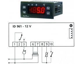 TERMOSTAT ID961/A 12Vac/dc 8A NTC/PTC