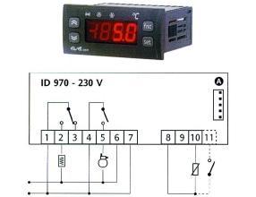 TERMOSTAT ID970 230V 15/8A NTC/PTC