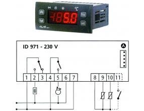 TERMOSTAT ID971 230V 15/8A NTC/PTC