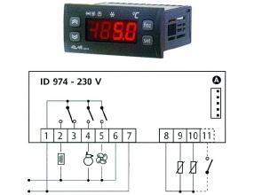 TERMOSTAT ID974 230V 8/8/5A NTC/PTC