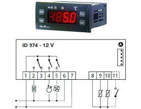 TERMOSTAT ID974 12Vac/dc 8/8/5A NTC/PTC