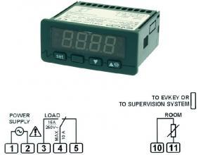 TERMOSTAT EVK411 230V PTC