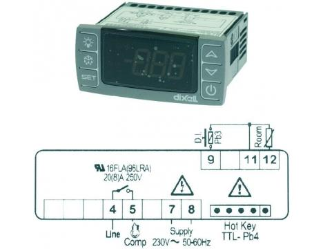 TERMOSTAT XR20CX 230V NTC/PTC