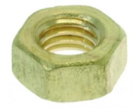BRASS NUT M6 - 100 PCS