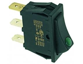BLACK THREE-POLE SWITCH 16A 250V