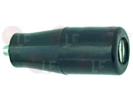 BLACK OVAL KNOB o 18x46 mm PITCH M5