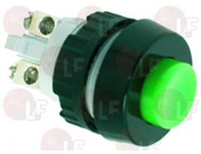 GREEN SINGLE-POLE PUSH-BUTTON 0.7A 250V