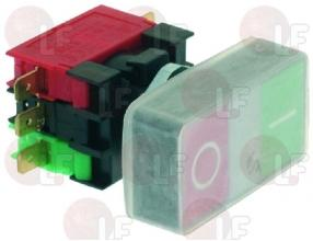 PUSH-BUTTON PANEL O-I GREEN-RED 12A 600V