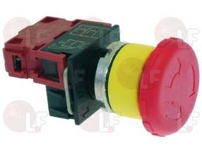 RED PUSH-BUTTON WITH BLOCK 10A 600V