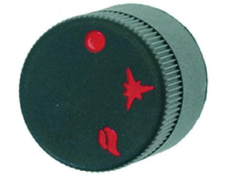BLACK KNOB o 30 mm SILK-SCREEN PRINTED