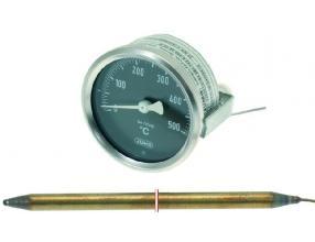 TERMOMETR BIAŁA TARCZA o 60 mm 0-500 C
