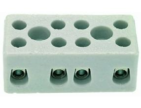 4-POLE CERAMIC TERMINAL BLOCK
