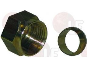 GAS FITTING NUT AND OLIVE o 12 mm