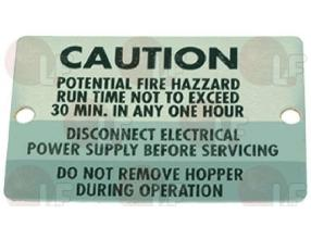 CAUTION-FIRE LABEL