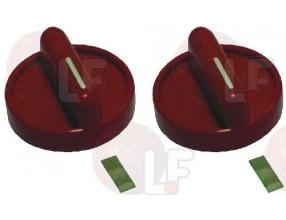 RED KNOB  o 40 mm - 2 PCS