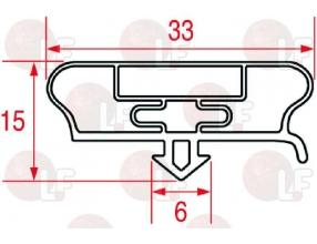 SNAP-IN GASKET 390x225 mm